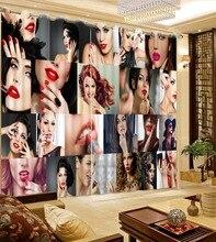 Rideaux occultants 3D femmes Sexy   Impression 3D, rideaux pour salon, chambre à coucher, décoration de la maison, rideau moderne tendance