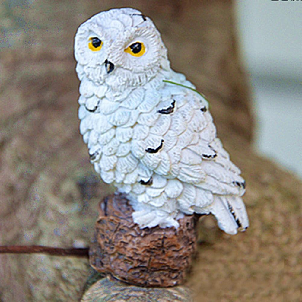 Micro Landscape Plant Pots Mini Fairy Gifts Garden Bonsai Patio Imitation Owls Home Outdoor DIY Decoration Cute Resin Craft