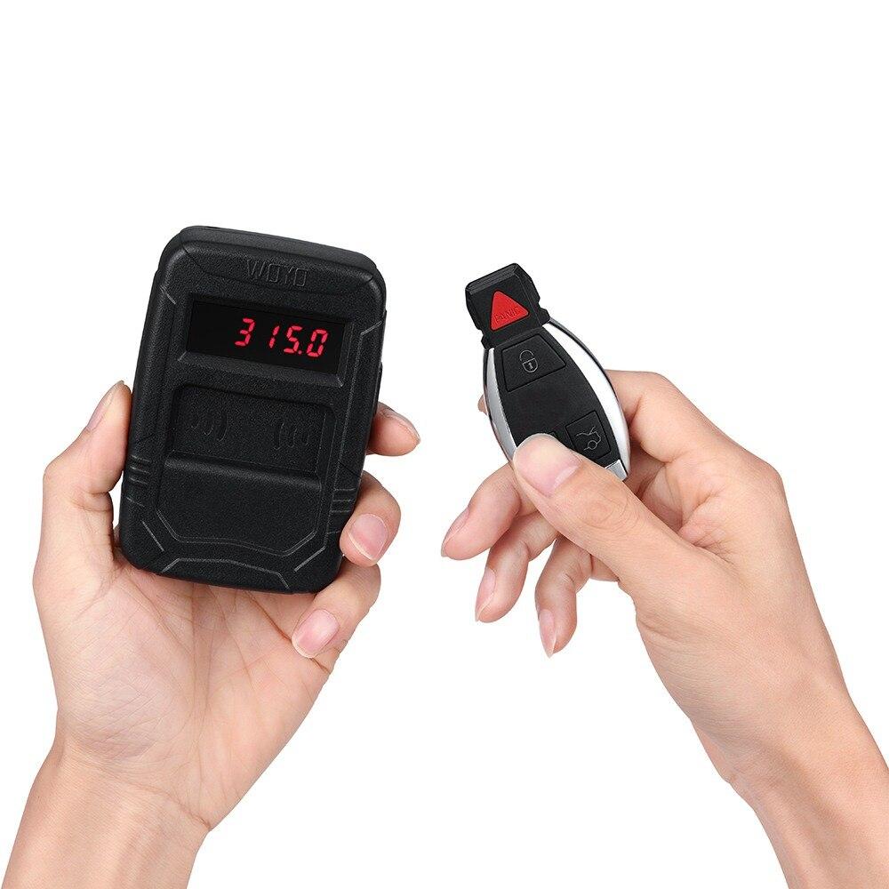 Probador automático de Control remoto infrarrojo IR, probador de frecuencia Digital de llave de coche, contador de frecuencia inalámbrico de Control remoto RF