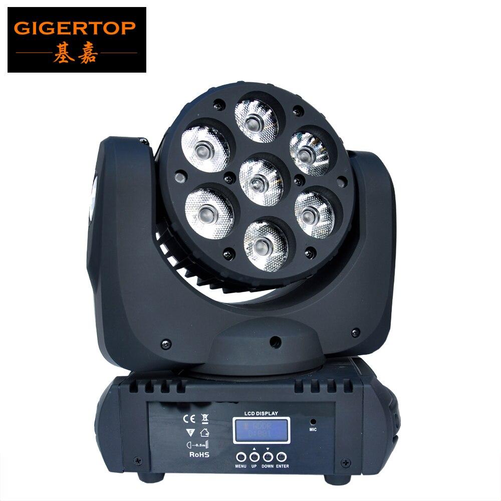 TP-L641 7x12 W Cree LED de haz de luz cabeza móvil, súper brillo RGBW Led cabeza móvil haz de luz ángulo 8 grados 15 canales DMX