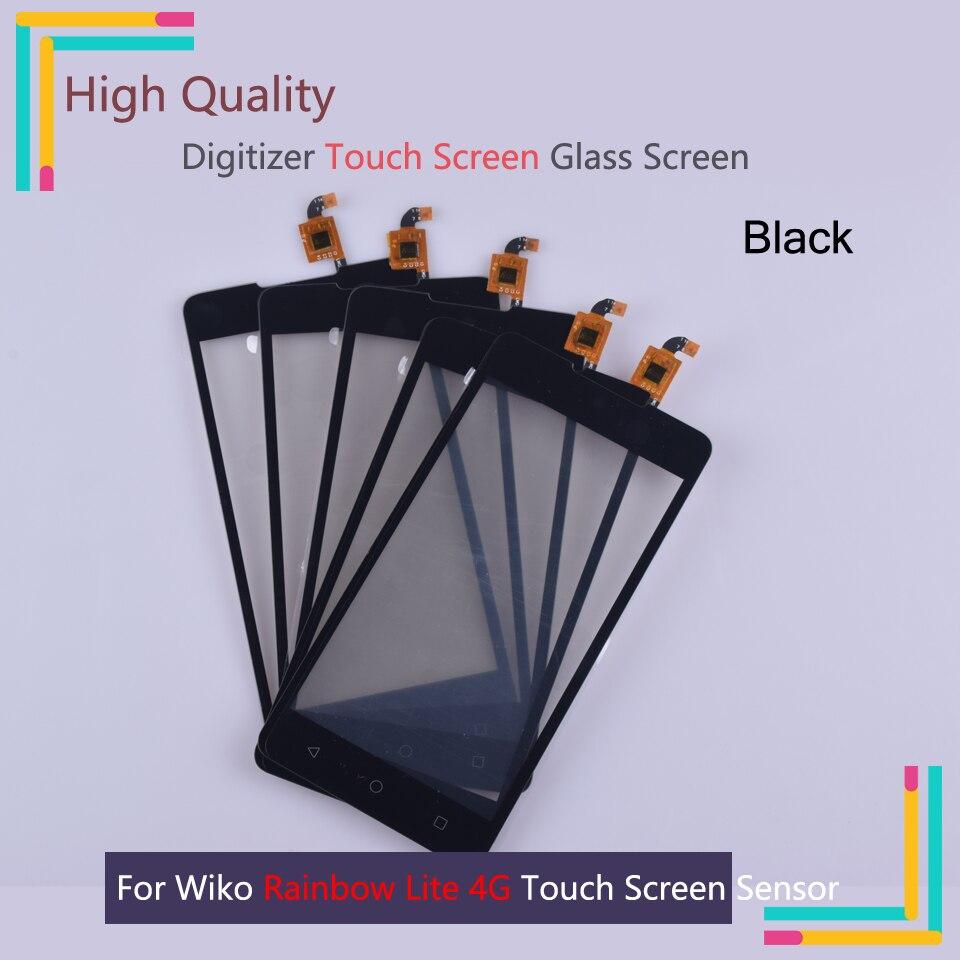 Nueva pantalla táctil de Rainbow Lite para Wiko Rainbow Lite 4 GTouch, Sensor de digitalizador de pantalla frontal externa, reemplazo del panel de la lente