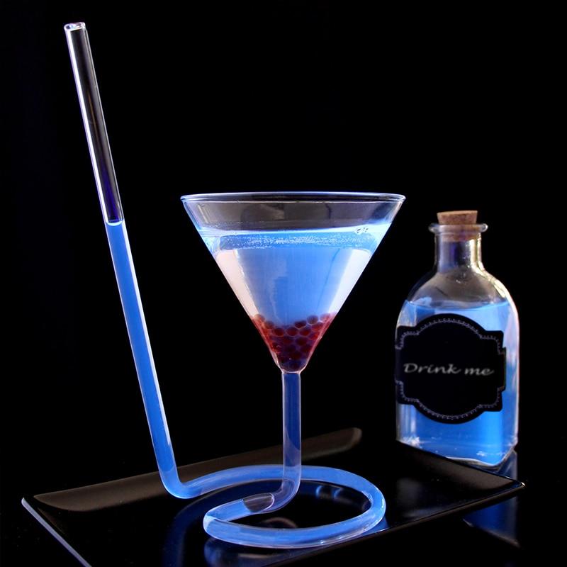 Креативная винтовая спиральная соломинка, молекула, коктейльное стекло, бар, бокал для вечеринки, Мартини, шампань, купоны, Васо, бокалы для вина, подвески