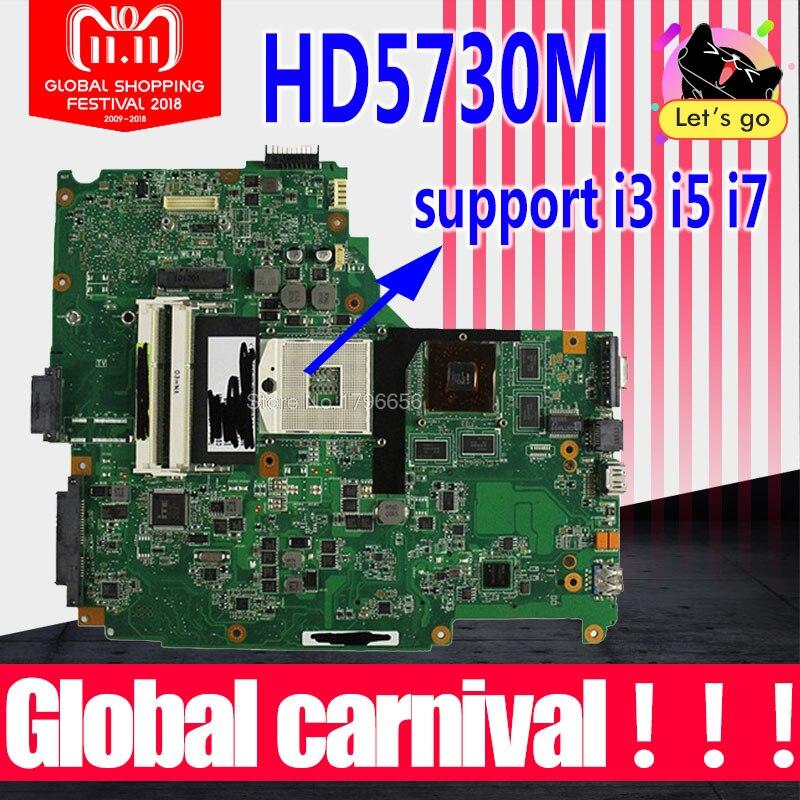 Enviar placa + n61ja placa-mãe rev 2.0 hd5730m para asus n61j n61jv computador portátil placa-mãe n61ja mainboard n61ja teste placa-mãe ok