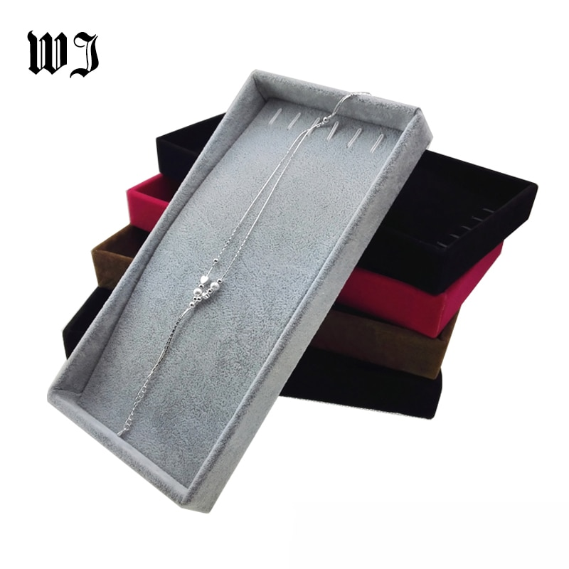 Оптовая-продажа-превосходный-бархатный-подвесной-лоток-для-цепочек-и-ожерелий-органайзер-для-ожерелий-коробка-для-хранения-11-22-3-см