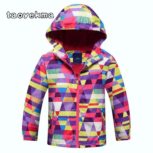 2018 Autumn Boys Girls Polar Fleece Windproof Jacket School Kid Waterproof Coats Children Sport Double-deck Windbreaker Jackets