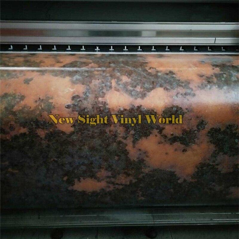 Película de revestimiento de vinilo Wasteland Rust Car, pegatina de burbujas de aire, gráficos para vehículos con estilo