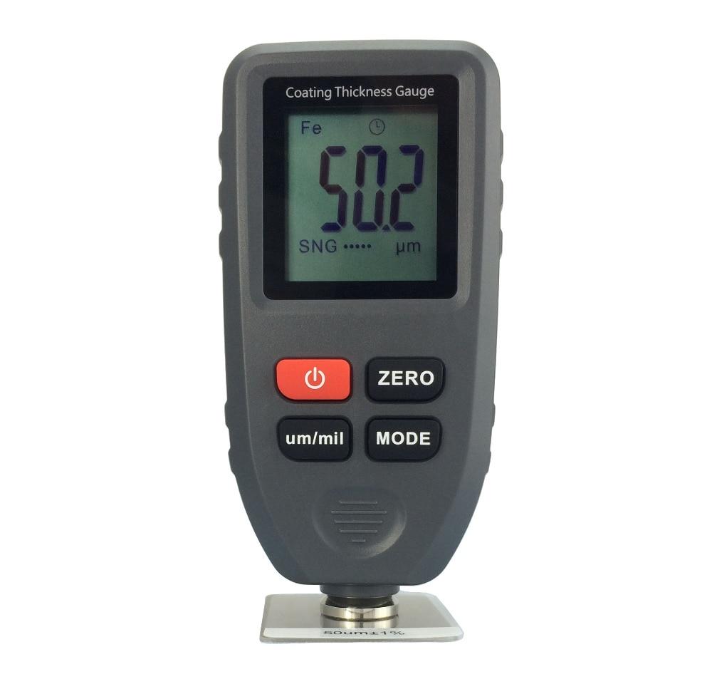 1 قطعة الرقمية المهنية قياس سمك طلاء متر سيارة سمك متر سمك تستر قياس المدى: 0 ~ 1300um (التحقيق F & NF)