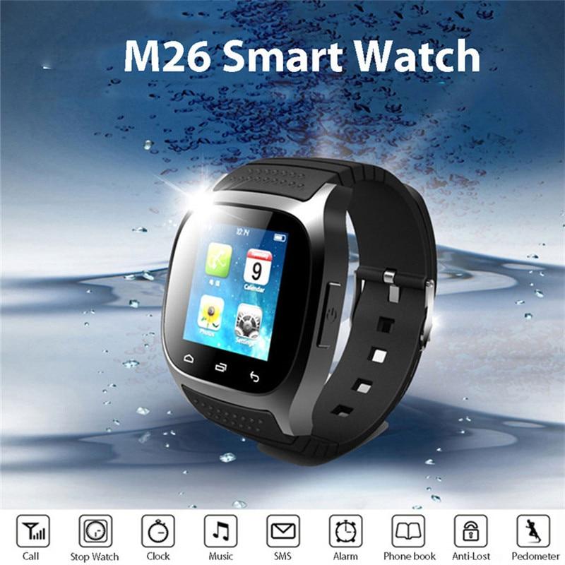 Bluetooth inteligente reloj M26 nuevo diseño Smartwatch a podómetro musical Fitness Tracker para Android Teléfono Inteligente