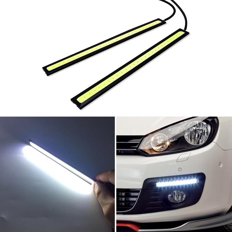 2x Car Daytime Running Lights COB LED DRL Lamp For Toyota Corolla Yaris Avensis Rav4 Camry Auris Hilux Chr Prius Verso Ae86 Vitz