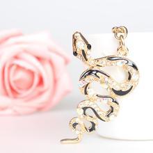 Serpent Fortune mignon cristal charme sac à main sac à main clé de voiture porte-clés fête mariage cadeau danniversaire