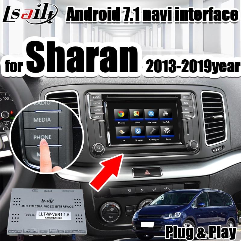 Android 7,1 inalámbrico carpaly y vídeo, navegación interfaz para Sharan/Tiguan/Skoda. 2013-2019year con youtube waze