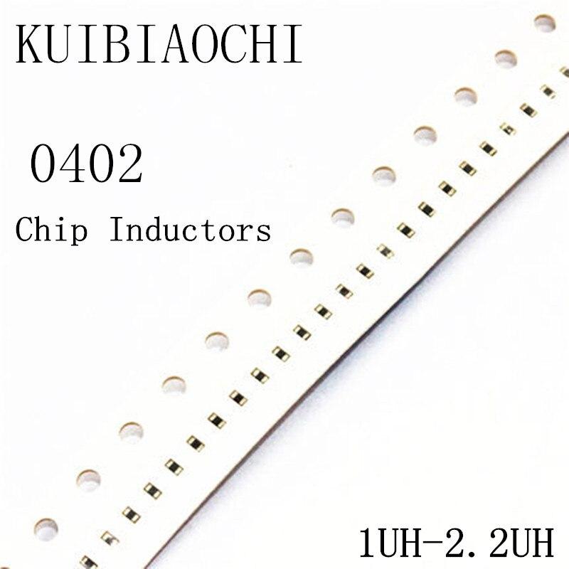 100 pçs/lote 0402 SMD Indutor 1uH 1.2uH 1.5uH 1.8uH 2.2uH