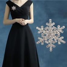 AiNian vente dame mode Broches charme cristal strass broche licorne grand flocon de neige broche Broches bijoux Broches