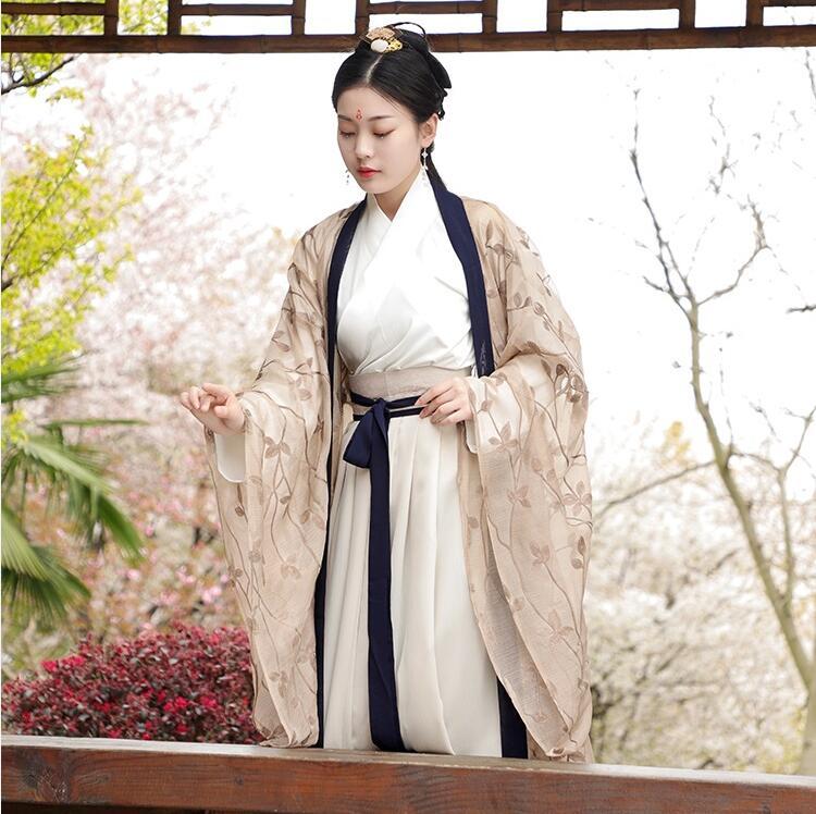 Ropa de estudiante de la antigua dinastía Wei Jin, Ropa de baile de Hada de primavera, ropa Retro original para uso diario, ropa cómoda para mujer