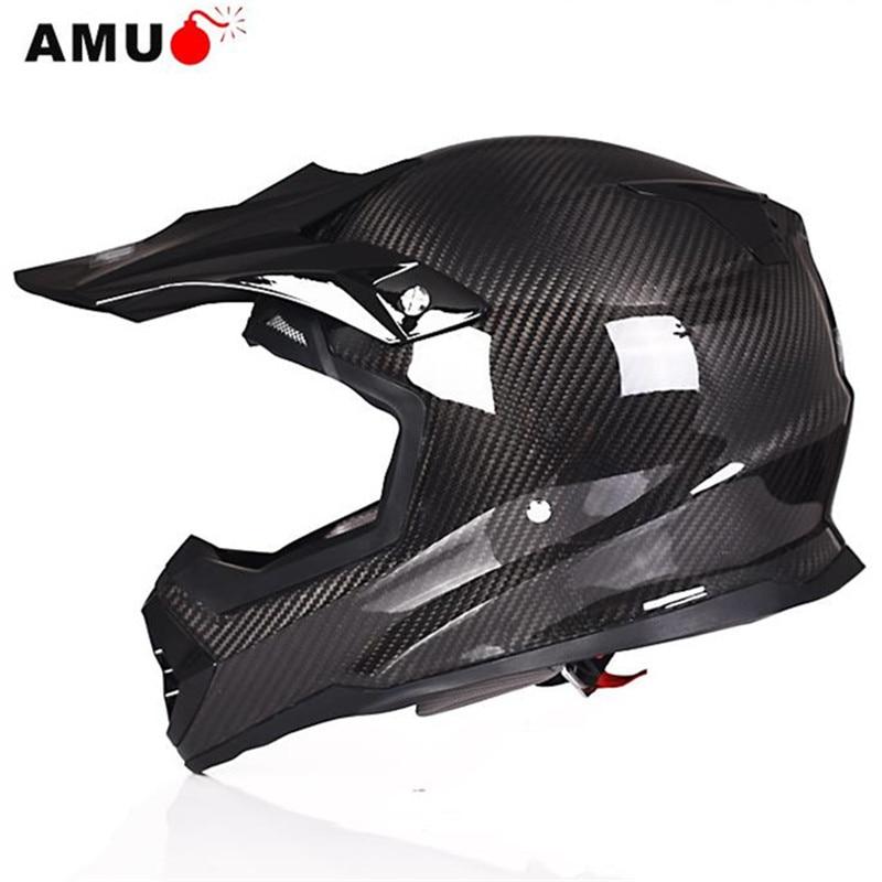 Auténtico casco de motocicleta AMU de fibra de carbono, montaje en capa, motocicleta, SUV, vehículo eléctrico, cuatro estaciones, General Q5