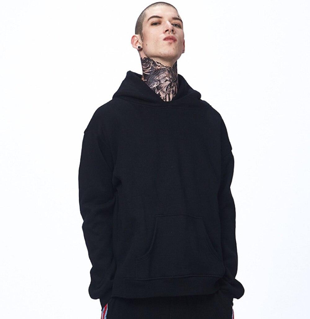 NEW Mens Sweatshirts Long Sleeve Thick Hoodies Loose Fleeces Male Hoodys Casual Solid Color hooded Sweatshirts Cotton Hoodies