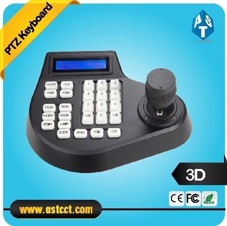 Cheape Mini 3D CCTV keyboard Controller Joystick für RS485 PTZ Speed dome kamera Halterung Unterstützung Pelco-D protokoll 4 achse
