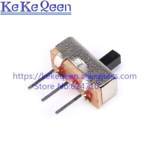 1000PCS/LOT Interruptor on-off mini Slide Switch SS12D00 SS12D00G4 3pin 1P2T High quality toggle switch Handle length:4MM