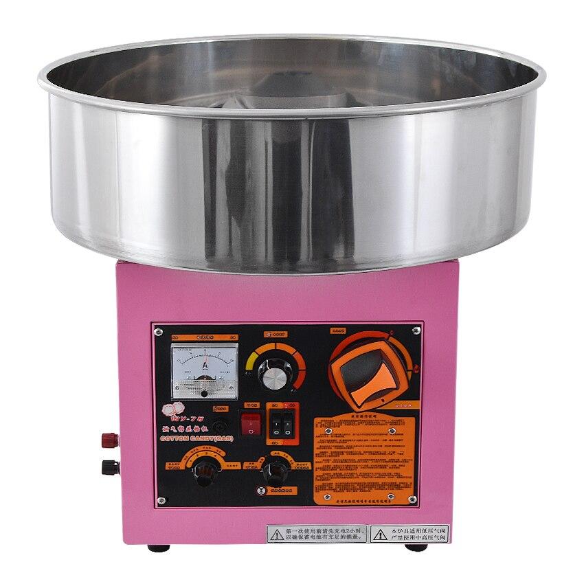 Eléctrico/Gas (puede elegir un modelo) Máquina de algodón de azúcar hilo dental máquina de acero inoxidable Material WY-78