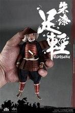 Figura coleção boneca 1/12 escala coomodel pe008/pe009 samurai japonês soldado vermelho/preto armadura ashigaru