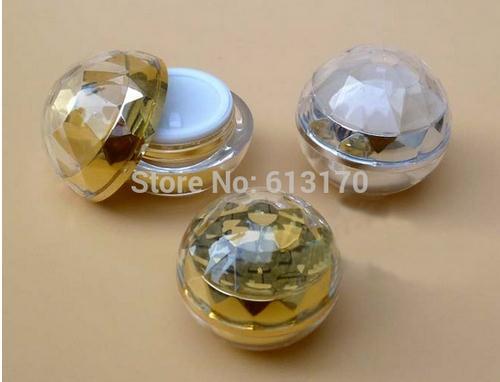 50g vacía tarro de la crema de acrílico PMMA de doble pared esfera forma redonda sombra de ojos diy recargable muestra tarro de envío gratuito