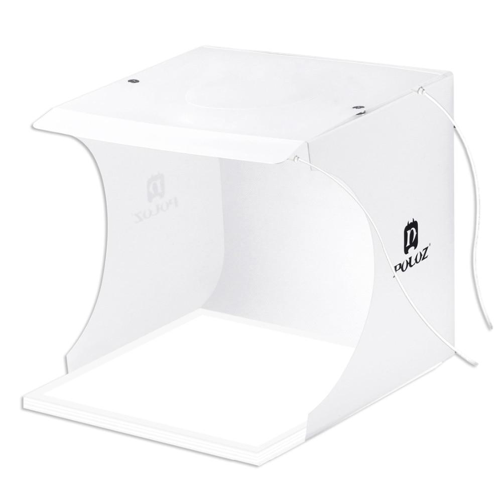 PULUZ Mini 22,5 LED fotografía sin sombras lámpara de luz inferior cojín de panel + 2 paneles LED 20CM lightbox Photo Studio tienda de tiro B