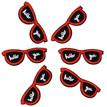 DIY Sunglasses Patches for Clothing Iron Embroidered Patch Applique Iron on Sewing Accessories Badge