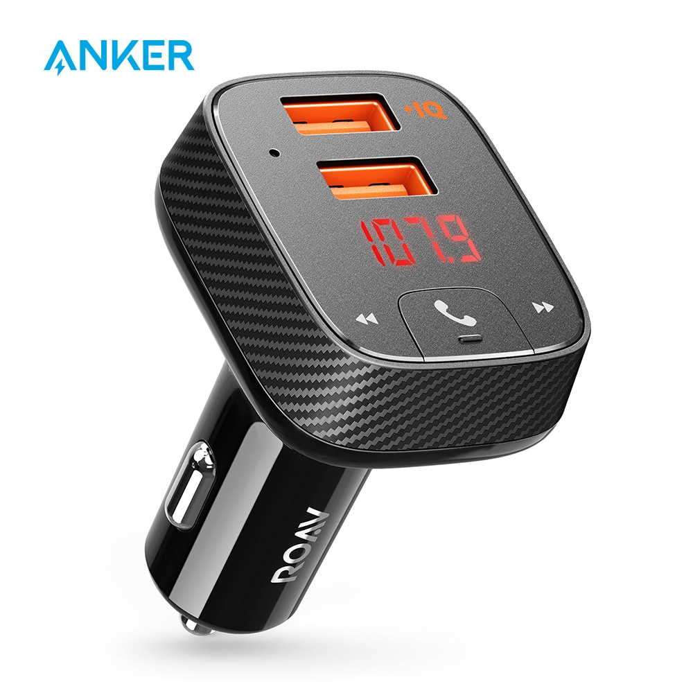 Anker Roav SmartCharge F2 FM передатчик Bluetooth приемник Автомобильное зарядное устройство с Bluetooth 4,2 App поддержка USB накопитель для воспроизведения MP3