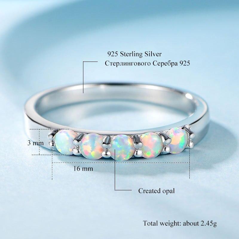 Anillo de ópalo Natural de plata esterlina de GB, anillos S925 con piedra ópalo blanco, hermosos anillos de piedras preciosas para mujeres finas, suministro de fábrica