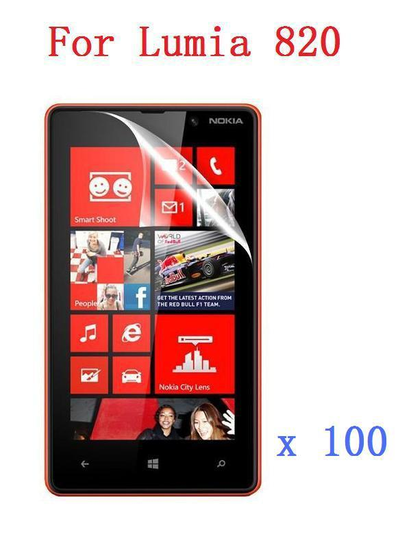 High Clear Screen Protector For Nokia Lumia 820 Transparent Protective Film High Quality +Cleaning