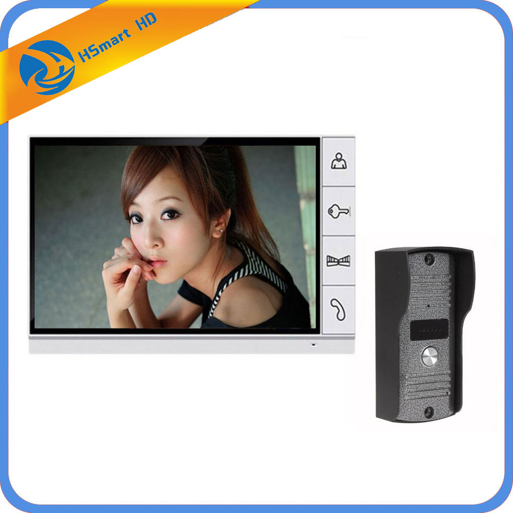 O envio gratuito de segurança em casa 9 polegada tft lcd monitor vídeo porteiro telefone da porta sistema com visão noturna câmera ao ar livre em estoque