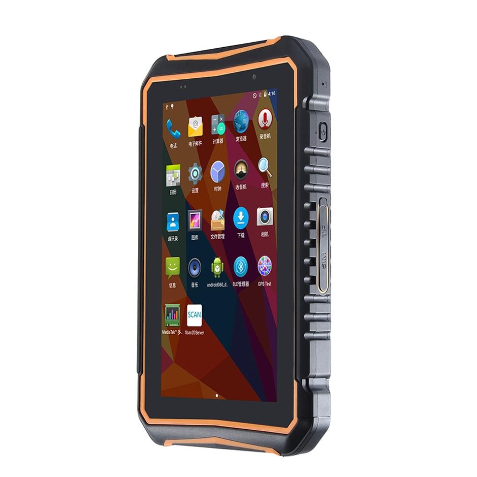 جهاز لوحي متين مقاوم للماء ، قارئ باركود ليزر QR 1D 2D ، Android ، محمول ، PDA ، UHF ، RFID ، NFC ، GPS