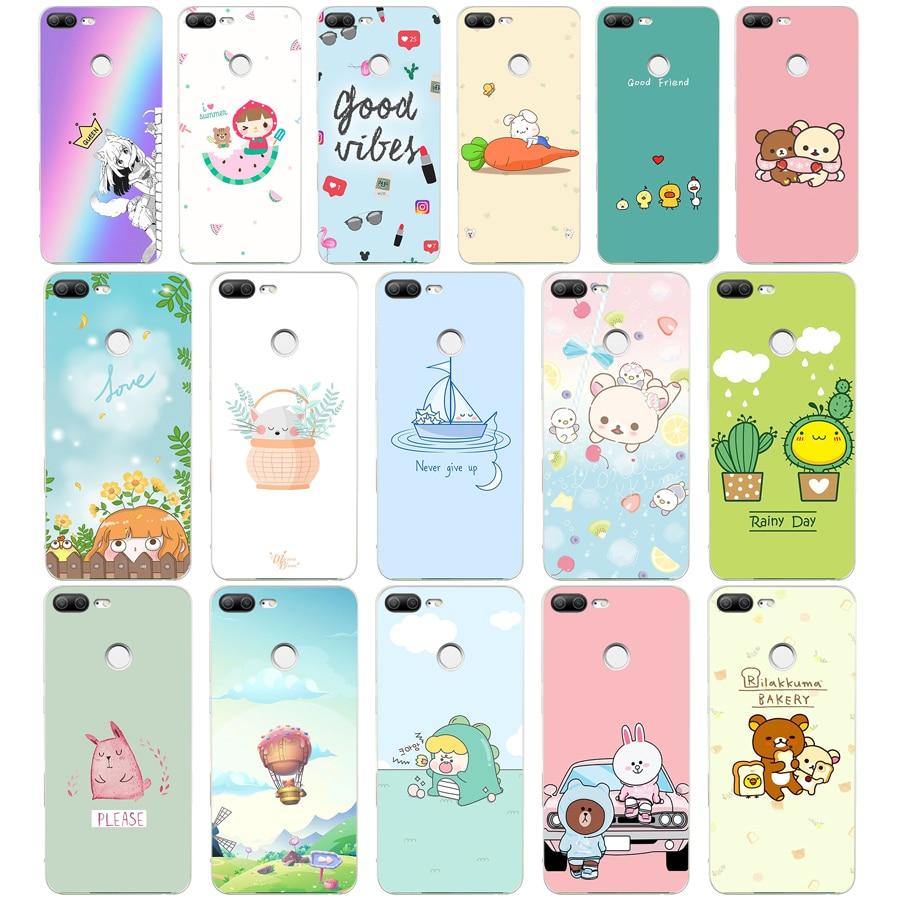 311WE luz Rosa girlish suave silicona Tpu funda de teléfono para huawei Honor 8 9 10 Lite 8X p 8 9 lite 2017