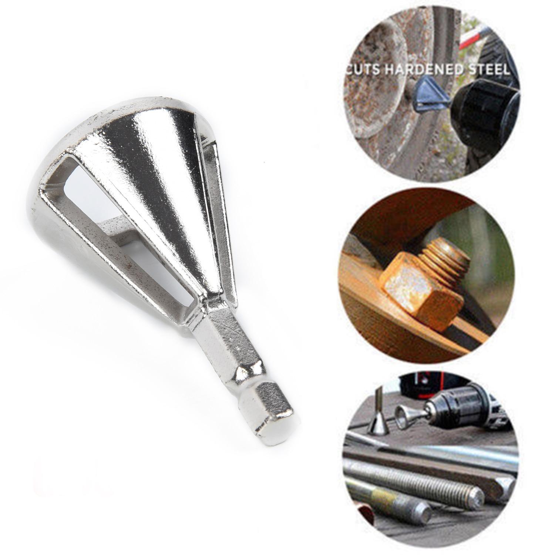 1 * CR12MOV высокопрочные твердосплавные сверла для удаления заусенцев внешний инструмент для фаски Серебряный шестигранный хвостовик