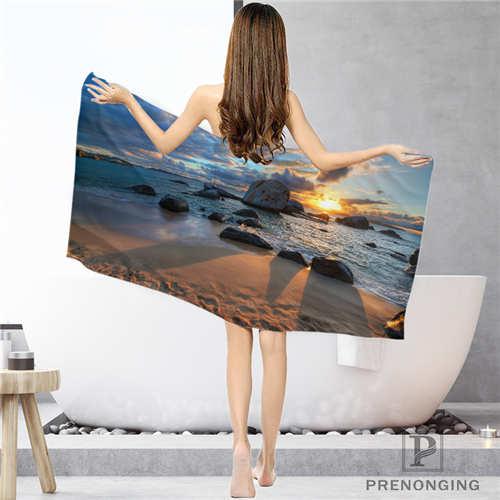 Personalizado sea-ocean-horizon (1) toallas de baño Toalla de cara/Toalla de baño toallas de ducha tamaño 33x7 4cm/72x143cm #18-12-16-03-105