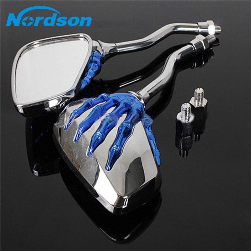 Espejos laterales Nordson para motocicleta Yamaha Honda V Star 250 650 950 1100 1300 Virago VMax Suzuki Kawasaki personalizados