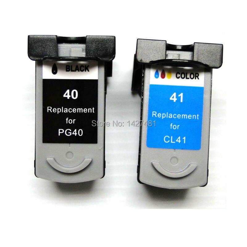 YOTAT remanufacturados PG-40 CL-41 cartucho de tinta PG40 CL41 para Canon PIXMA IP2500 IP2600 iP1200 MX300 MX310 MP160 MP140 MP150