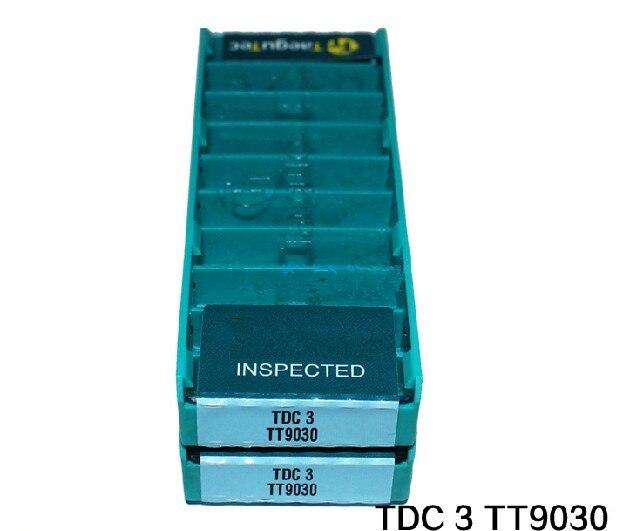 50 Uds TDC2 TDC3 TDC4 TDC5 TT9030 inserto de carburo de CNC taegutec inserciones de carburo de ranurado cnc Máquina Herramienta de torno girando herramienta CNC