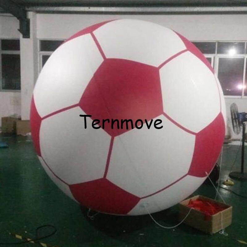 אדום 2m מתנפח כדורגל הליום בלון לאירועים לילדים, באיכות טובה, טלוויזיה להראות לזרוק כדורגל בלון אירוע תצוגה