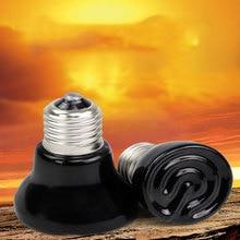 Ampoule chauffante en céramique   Mini lampe chauffante, 220V 20W/50W /75W /100W E27, à infrarouge Pet, contrôleur de température étanche tortue
