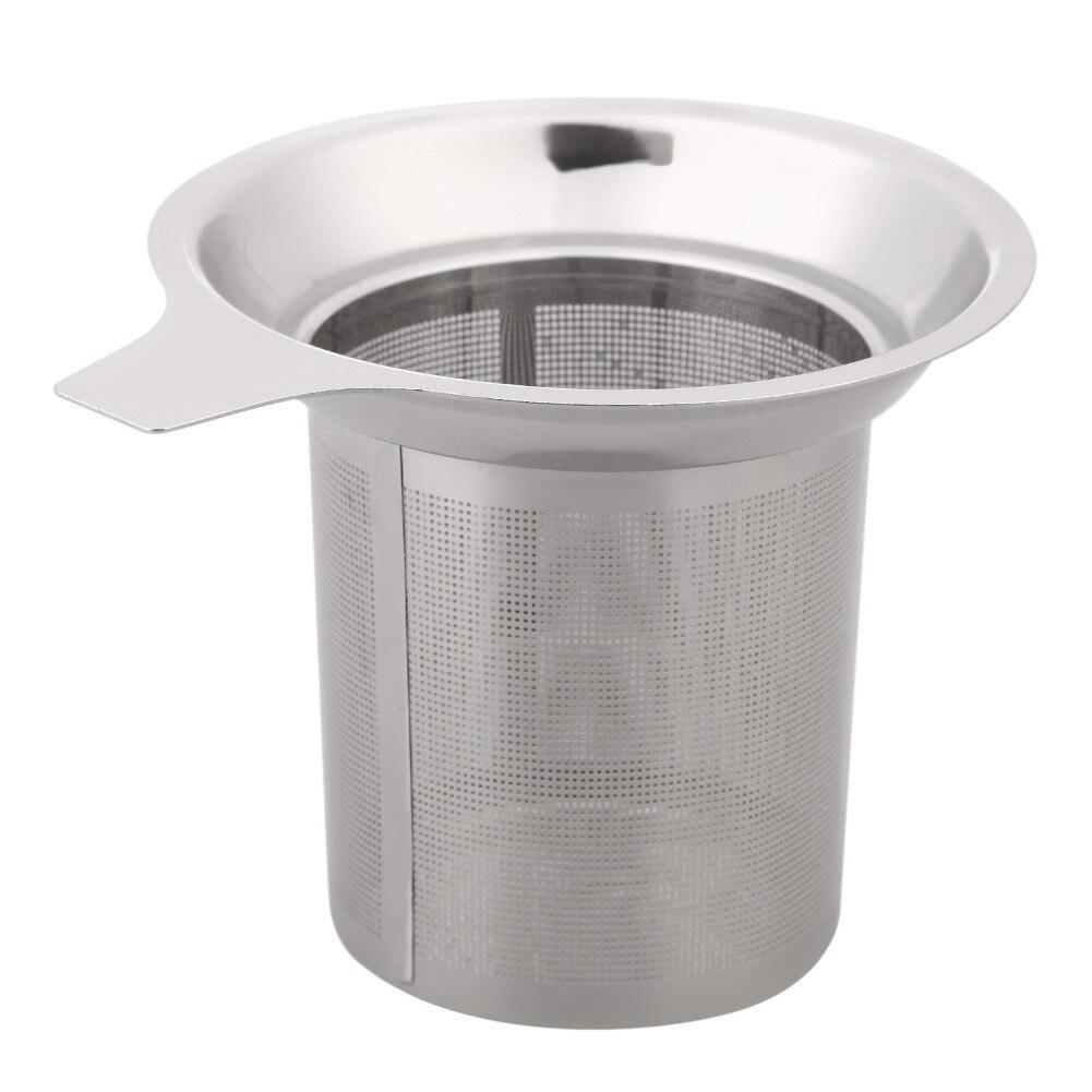 Colador de té de malla de acero inoxidable Infusor de té reutilizable hoja de té suelta especias Filtro de acero inoxidable colador de té CA1T