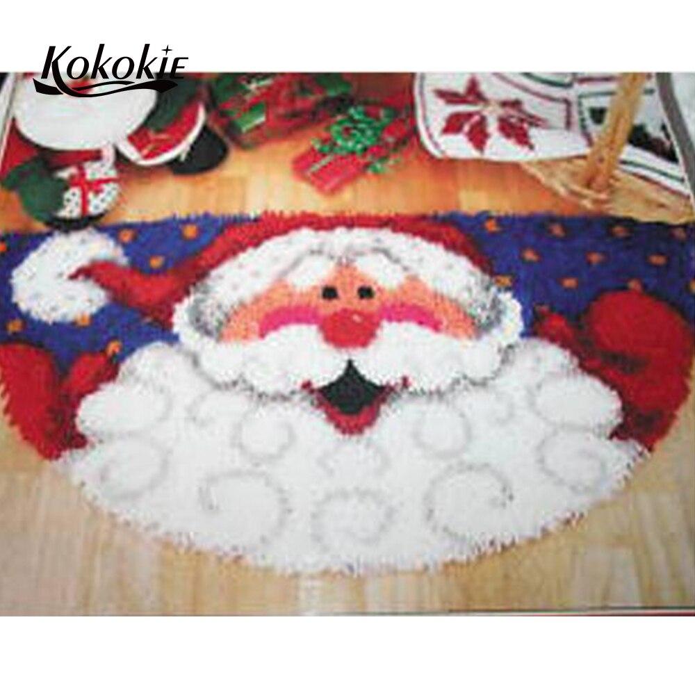 Kits de gancho de trava diy tapete tapeçaria tapete impresso tapete natal almofada agulha crocheting para tapete bordado needlework kits
