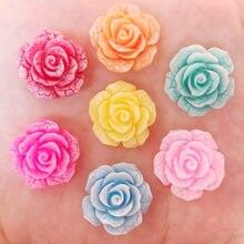 Résine mignon fleur craquelée pierre pour enfant   10 pièces 20mm Scrapbook boutons artisanat R75