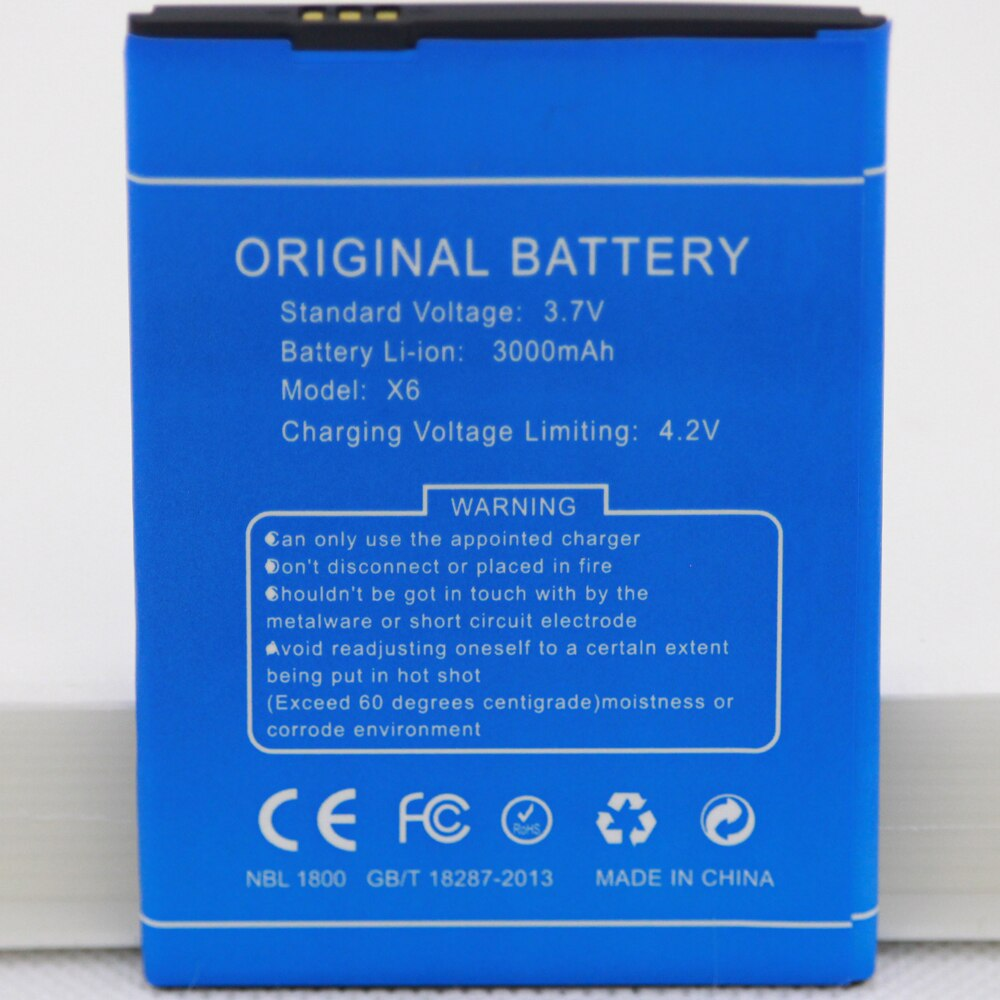 For DOOGEE X6 Pro Smart 3000mAh Mobile Phone Li-ion Replacement battery