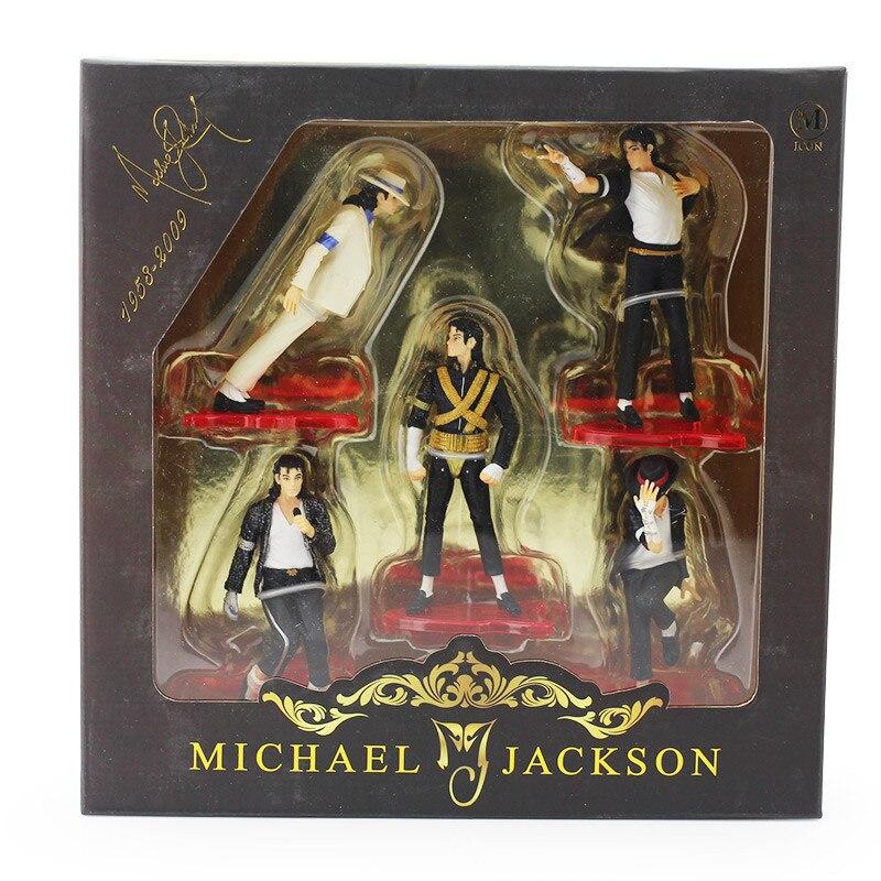 """5 pz/set Freddo de Michael Jackson Classico di Azione del PVC juguetes Da Collezione de 4 """"11 cm"""