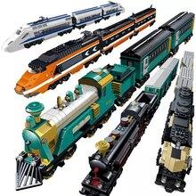 KAZI Technic créateur ville gare pistes Rail fonction de puissance moteur blocs de construction briques bricolage jouets pour les enfants
