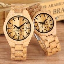 Ultra-light Wooden Watch Couple Watches Men Clock Male Full Bamboo Wood Bracelet Quartz Souvenir Gift for Man Women Luxury reloj