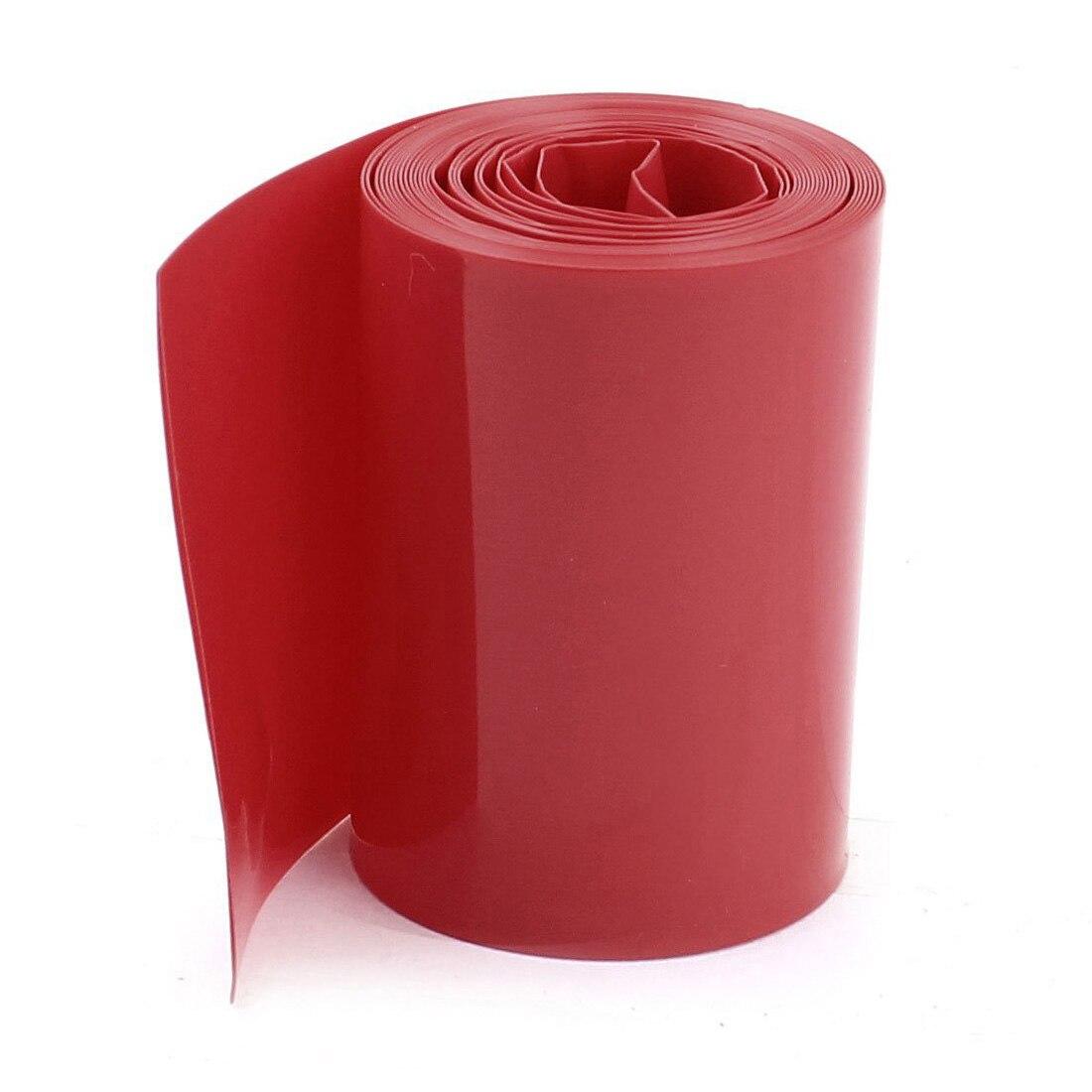 Tubo de plástico termorretráctil rojo de PVC de 2M 50mm de ancho más barato para batería 2x18650