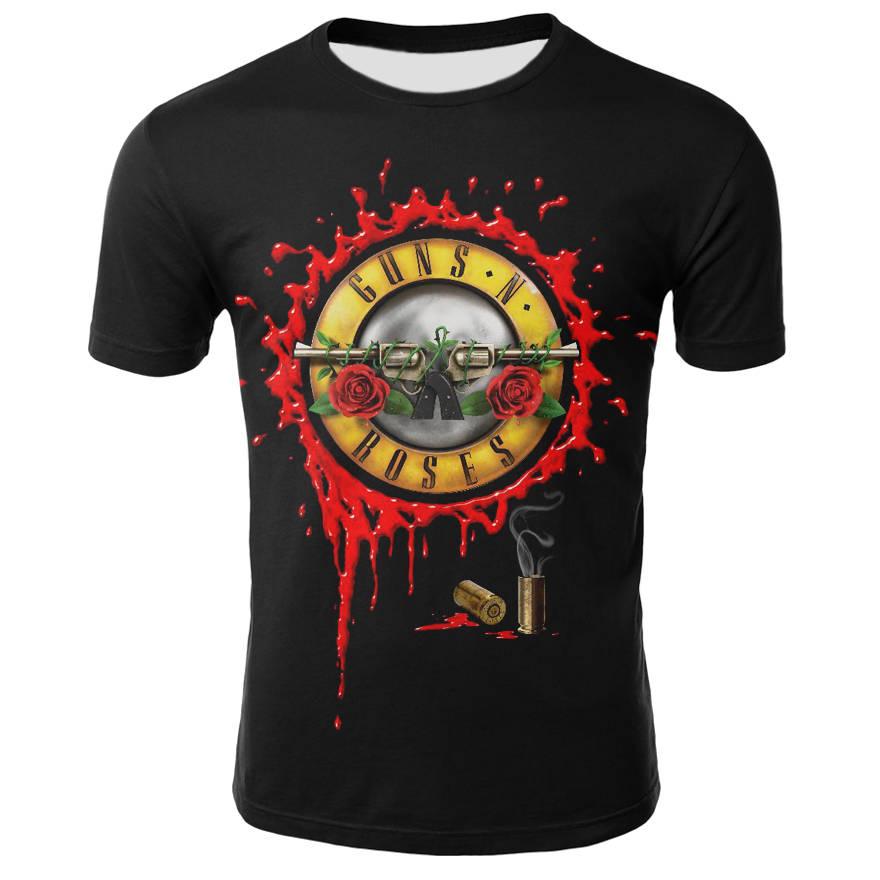 Roses And Guns T shirt Band Tops Guns N Roses Clothing Tshirt Shirts Tees Men Funny 2017 Hip hop Sexy High Quality cool t shirt