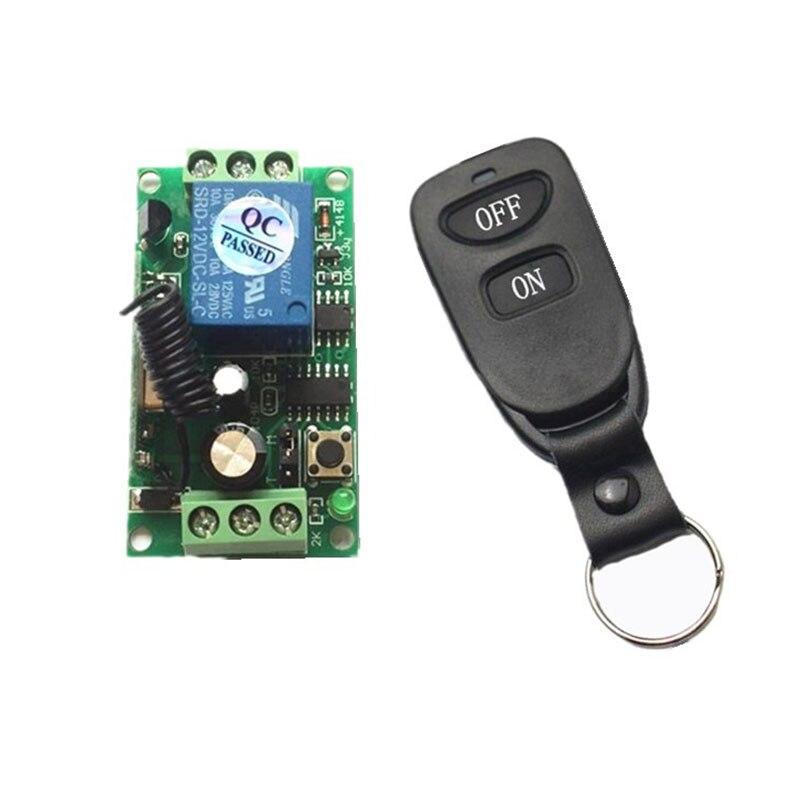 DC 12V 1CH inalámbrico RF interruptor de luz de control remoto 10A relé salida módulo receptor de Radio + TRANSMISOR/persianas